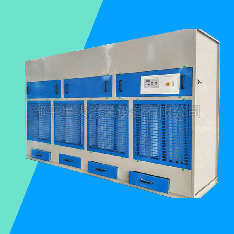 Dry pulse sanding dust removal cabinet